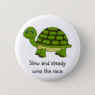 Cute Turtle Cartoon Button