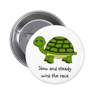 Cute Turtle Cartoon Pinback Buttons