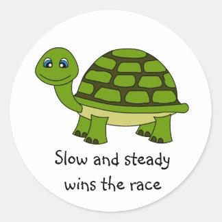Cute Turtle Cartoon Classic Round Sticker