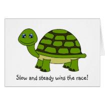 Cute Turtle Cartoon Encouragement Greeting Card