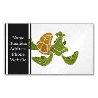 Cute turtle cartoon. magnetic business card