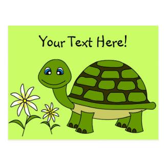Cute Turtle Cartoon Postcard