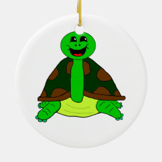 Cute turtle ceramic ornament
