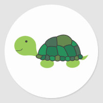Cute Turtle Classic Round Sticker