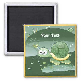 Cute Turtle Custom Magnet