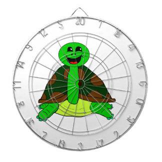 Cute turtle dartboard with darts