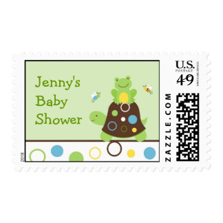 Cute Turtle Frog Bee Personalized Postage Stamps