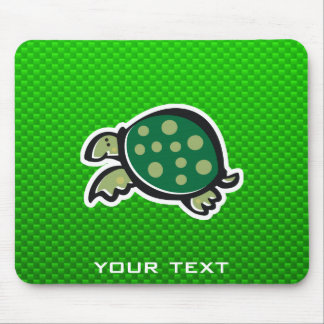 Cute Turtle; Green Mouse Pad