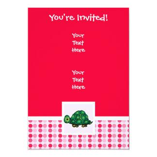 "Cute Turtle 5"" X 7"" Invitation Card"