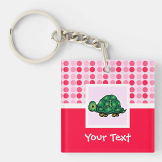 Cute Turtle Square Acrylic Key Chain