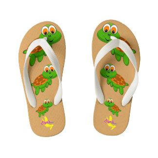 Cute Turtle Kid's Flip Flops