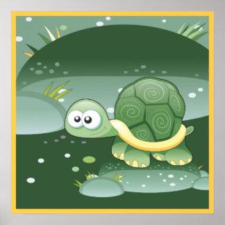 Cute Turtle Kids Room Poster