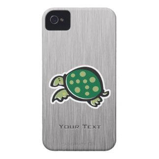 Cute Turtle; Metal-look Case-Mate iPhone 4 Case