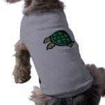 Cute Turtle; Metal-look Pet T-shirt
