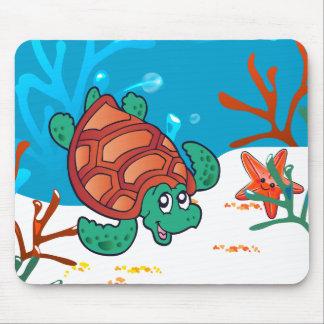Cute Turtle Ocean Aquatic Mousepad