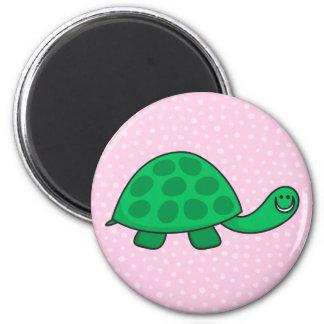 Cute turtle or tortoise cartoon animal magnet
