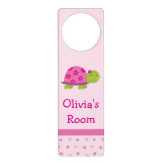 Cute Turtle Personalized Door Hanger Girls