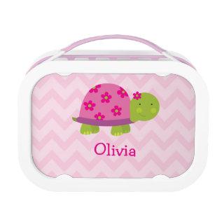 Cute Turtle Pink Personalized Yubo Lunchbox at Zazzle