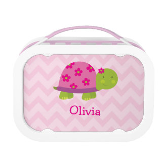 Cute Turtle Pink Personalized Yubo Lunchbox Lunchbox