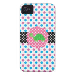 Cute turtle polka dots iPhone 4 Case-Mate cases