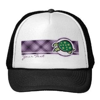 Cute Turtle; Purple Trucker Hat