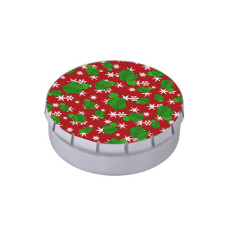 Cute turtle red snowflakes candy tin