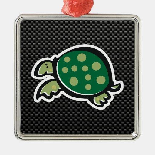 Cute Turtle; Sleek Christmas Tree Ornament