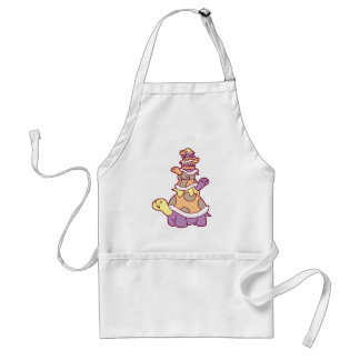 Cute Turtle Stack Adult Apron