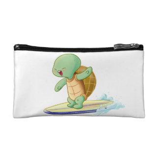 Cute Turtle Surfing Kawaii Cosmetic Bag