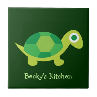 Cute Turtle Trivet Tile