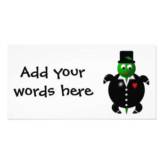 Cute turtle wearing a tuxedo! card