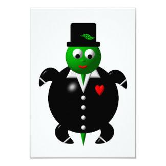 Cute turtle wearing a tuxedo! personalized invitations