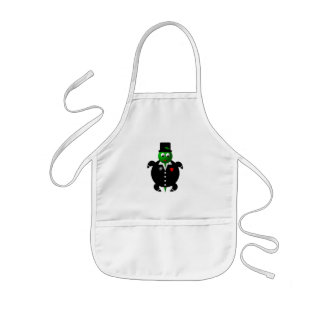 Cute turtle wearing a tuxedo! kids' apron