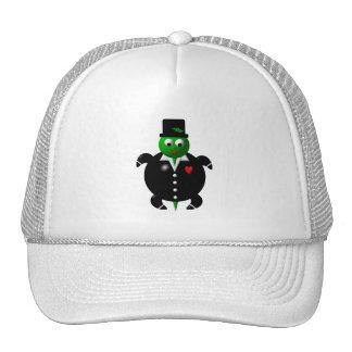Cute turtle wearing a tuxedo! trucker hat