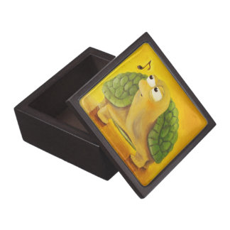 Cute Turtle With Music Note Oil Painting Gift Box Premium Trinket Boxes