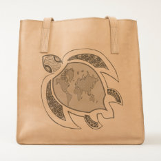 Cute Turtle World Map Tote at Zazzle