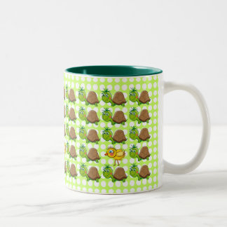 Cute Turtles and Chick - bubbles mug