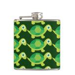 Cute Turtles Pattern Liquid Courage Flask