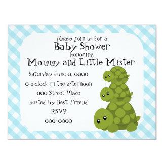 Cute Turtles Three 4.25x5.5 Paper Invitation Card