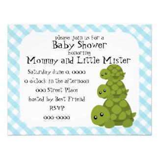 Cute Turtles Three Invite