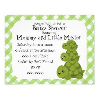 Cute Turtles Three Personalized Invites