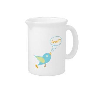 Cute tweet beverage pitcher