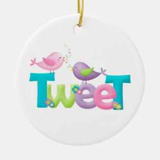 Cute Tweet Birds Christmas Ornaments