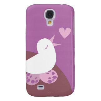 Cute tweeter love bird galaxy s4 cover