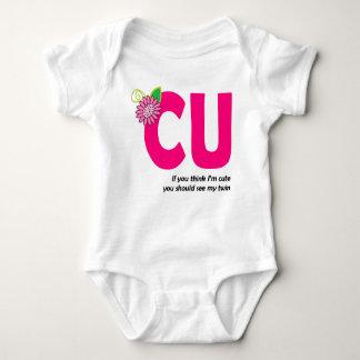 CUTE TWIN 1 BABY BODYSUIT