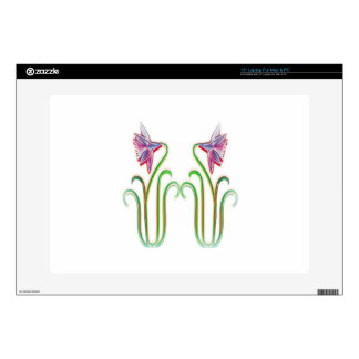 Cute Twin Flowers Illustration Art on 100 gifts Decals For Laptops