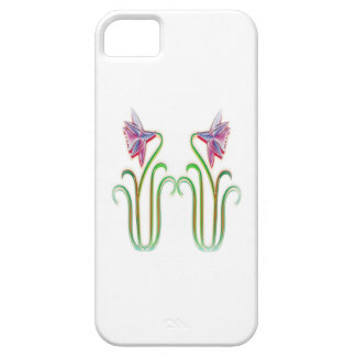 Cute Twin Flowers Illustration Art on 100 gifts iPhone SE/5/5s Case