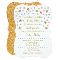 Cute Twinkle Little Star Gender Reveal Invitations