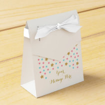 Cute Twinkle Star Party Favor Box Pink & Blue