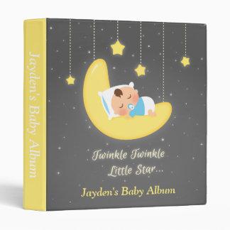 Cute Twinkle Twinkle Little Star Baby Boy Binder